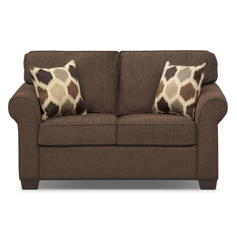 Fletcher Twin Memory Foam Sleeper Sofa - Chocolate ...