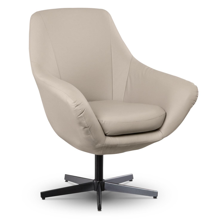 Elton Leather Swivel Chair