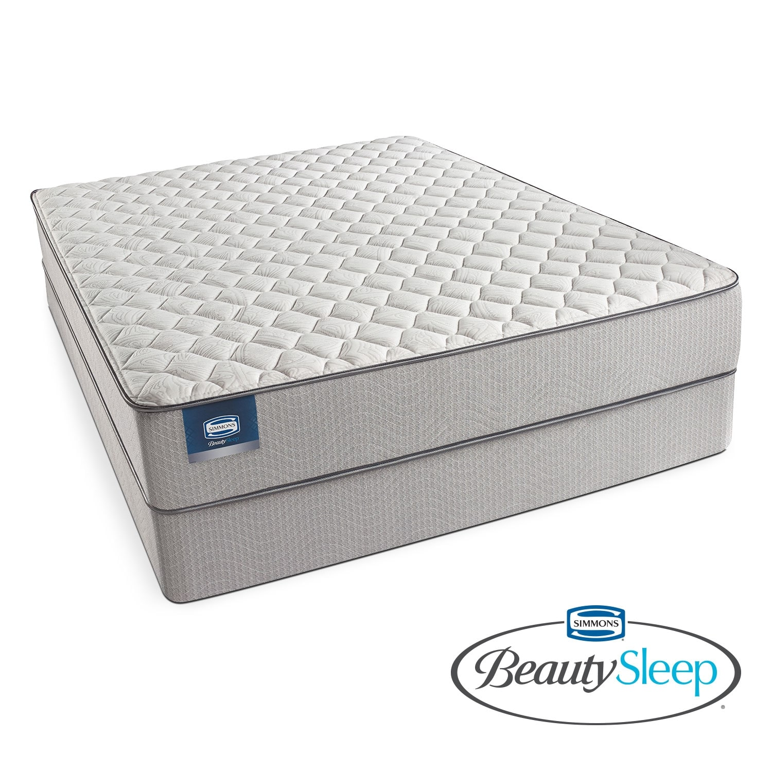 [Canal St. Firm Queen Mattress/Low Profile Foundation Set]