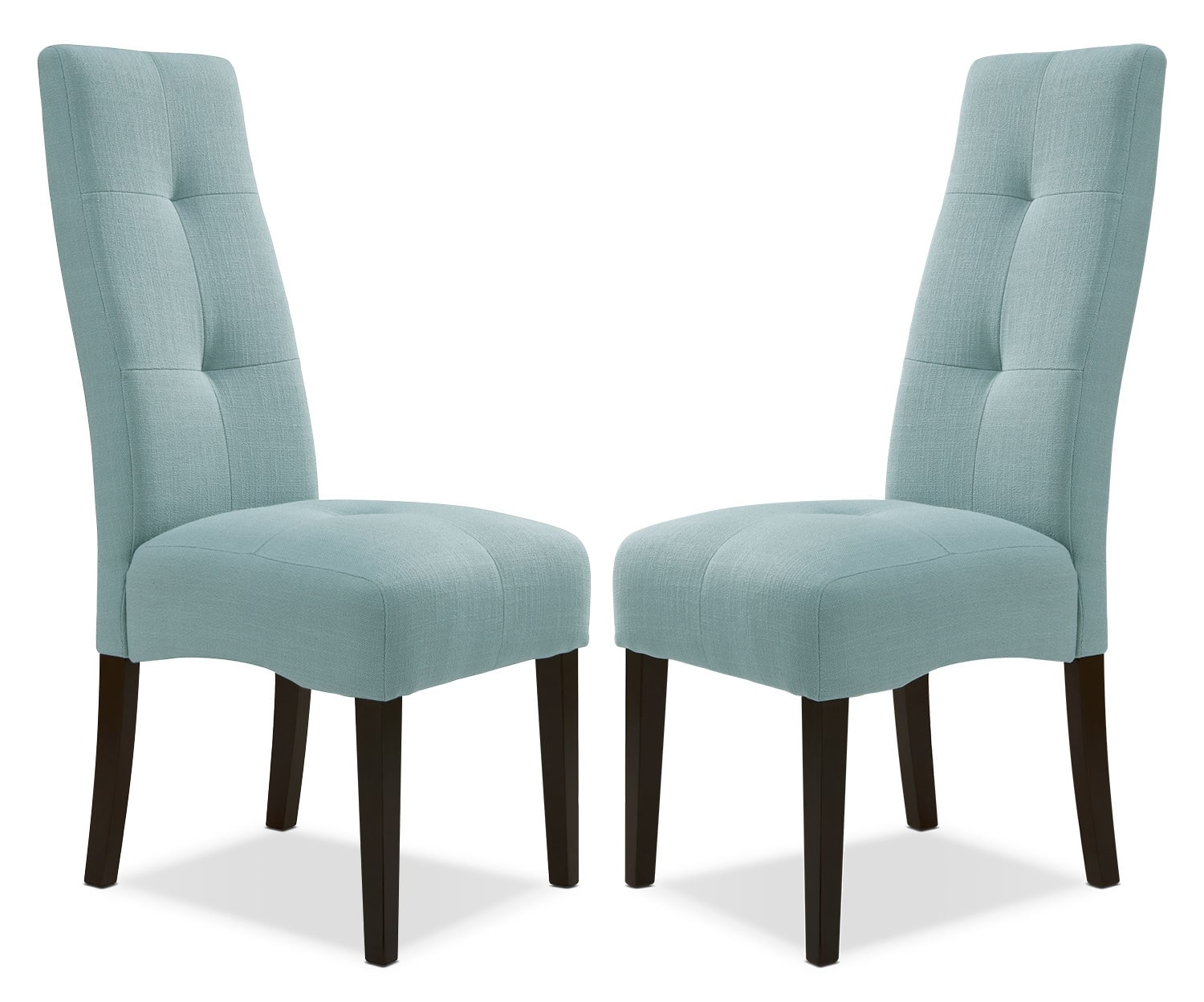 sadie light blue dining chair – set of   the brick - hover to zoom