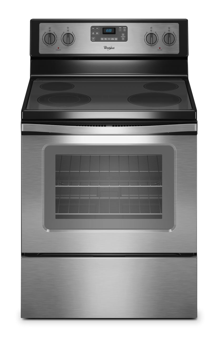 [Whirlpool Stainless Steel Freestanding Electric Range (5.3 Cu. Ft.) - YWFE515S0ES]