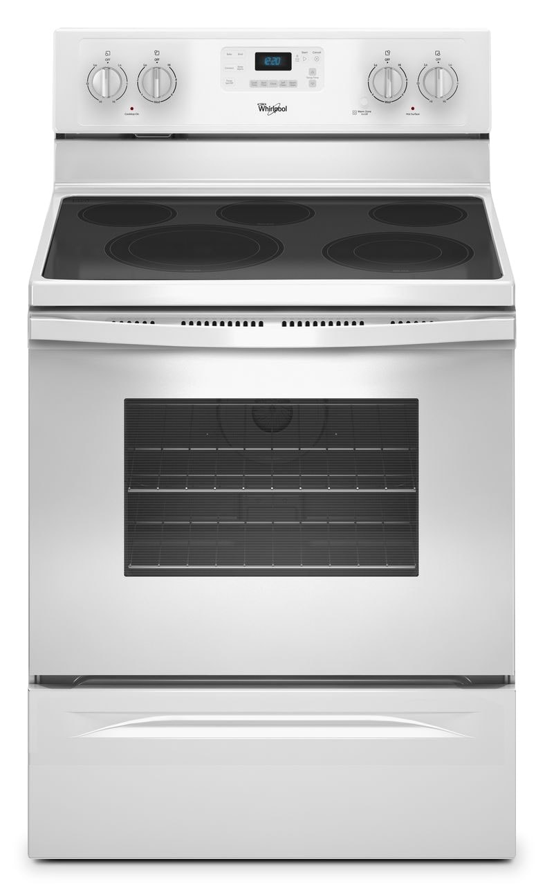 Cooking Products - Whirlpool White Freestanding Electric Range (5.3 Cu. Ft.) - YWFE530C0EW