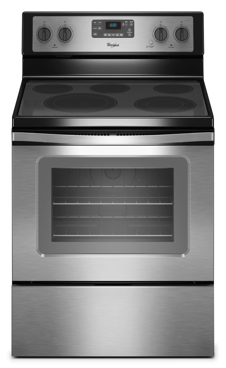 [Whirlpool Stainless Steel Freestanding Electric Convection Range (5.3 Cu. Ft.) - YWFE530C0ES]