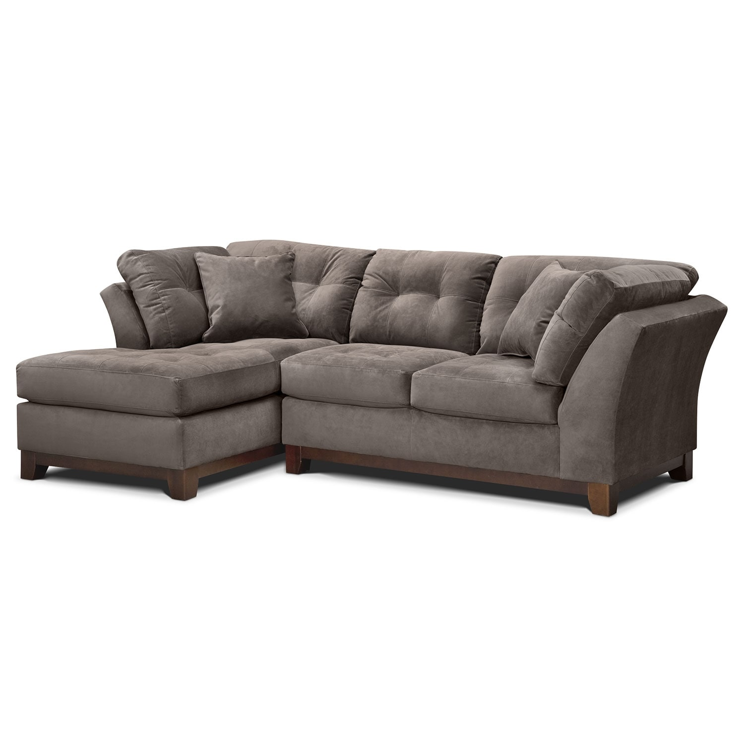 [Solace Gray II 2 Pc. Sectional (Alternate)]