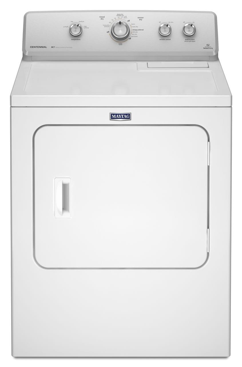 Washers and Dryers - Maytag White Gas Dryer (7.0 Cu. Ft.) - MGDC415EW