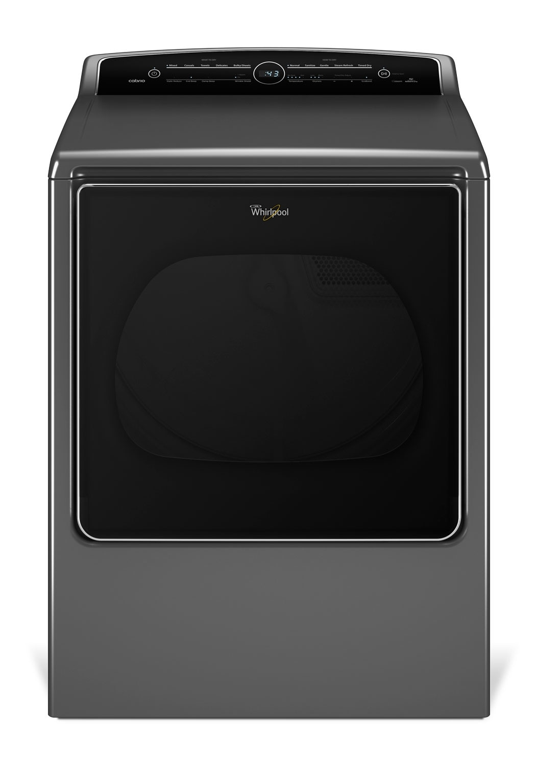 Washers and Dryers - Whirlpool Chrome Shadow Gas Dryer (8.8 Cu. Ft.) - WGD8500DC