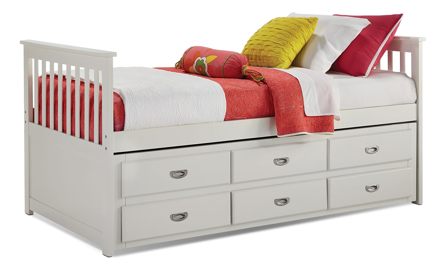 Chadwick Twin Captain S Bed White The Brick