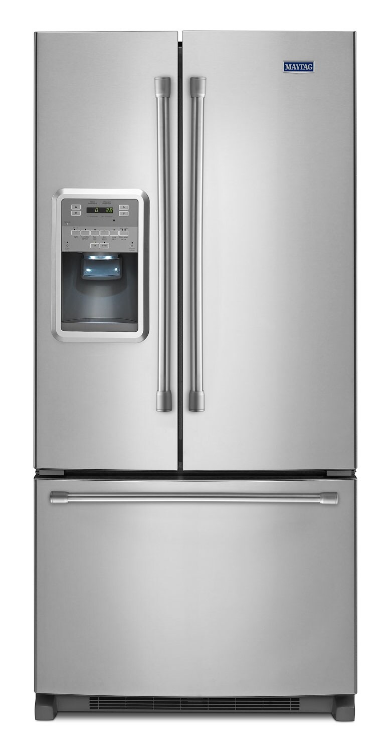 Refrigerators and Freezers - Maytag Stainless Steel French Door Refrigerator (21.7 Cu. Ft.) - MFI2269DRM