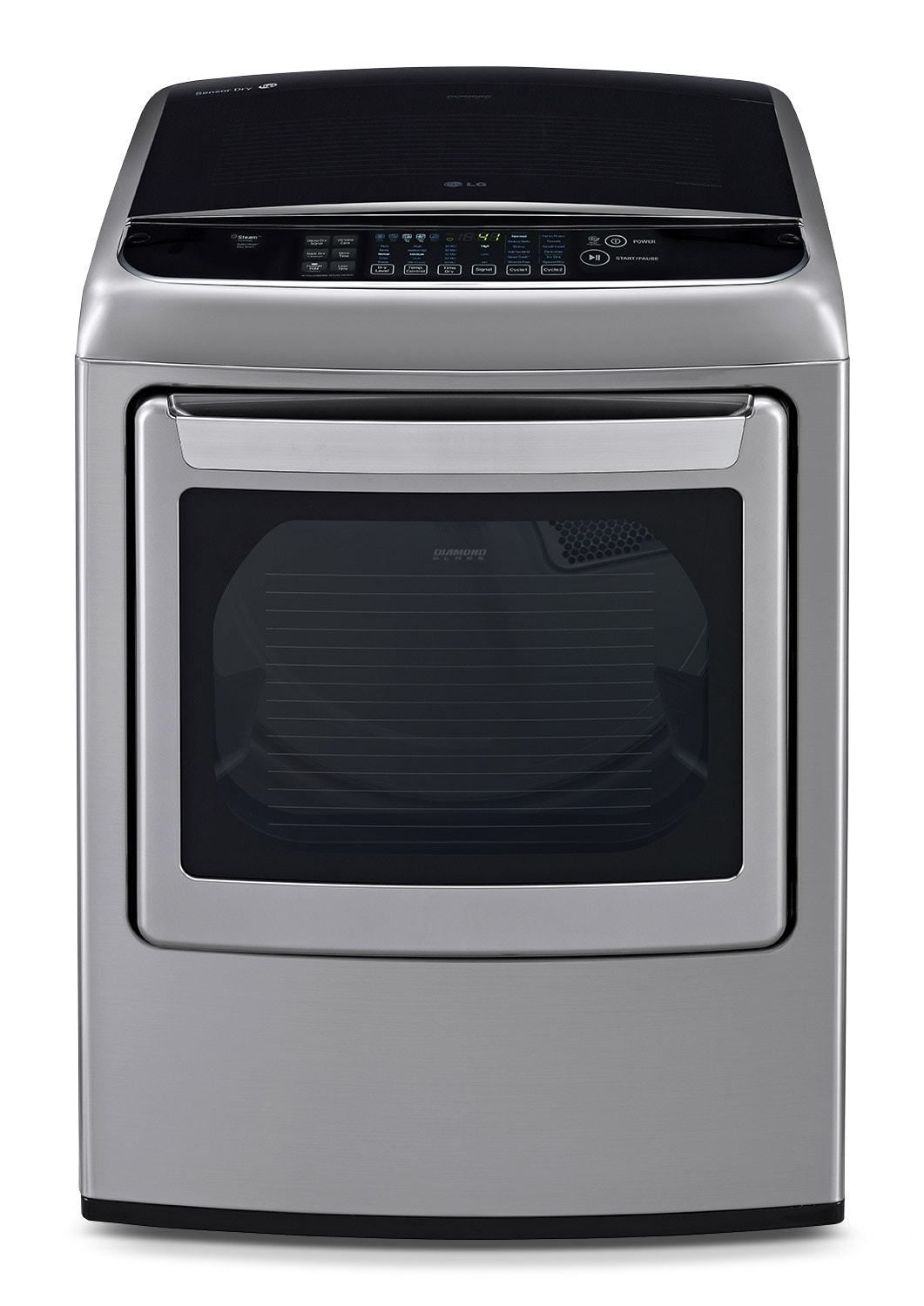 Washers and Dryers - LG 7.3 Cu. Ft. Electric Steam Dryer - Graphite Steel