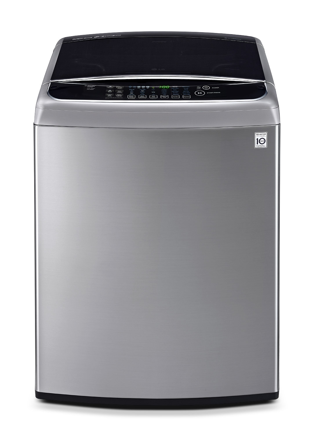 Washers and Dryers - LG 5.8 Cu. Ft. Top-Load Washer - Graphite Steel