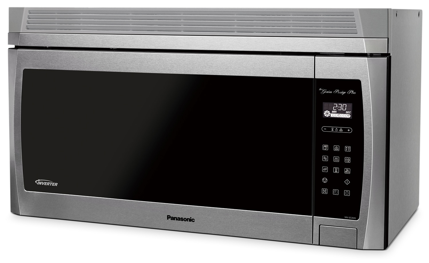 Cooking Products - Panasonic® 2.0 Cu. Ft. Genius® Prestige® Plus Over-the-Range Microwave Oven - Stainless Steel