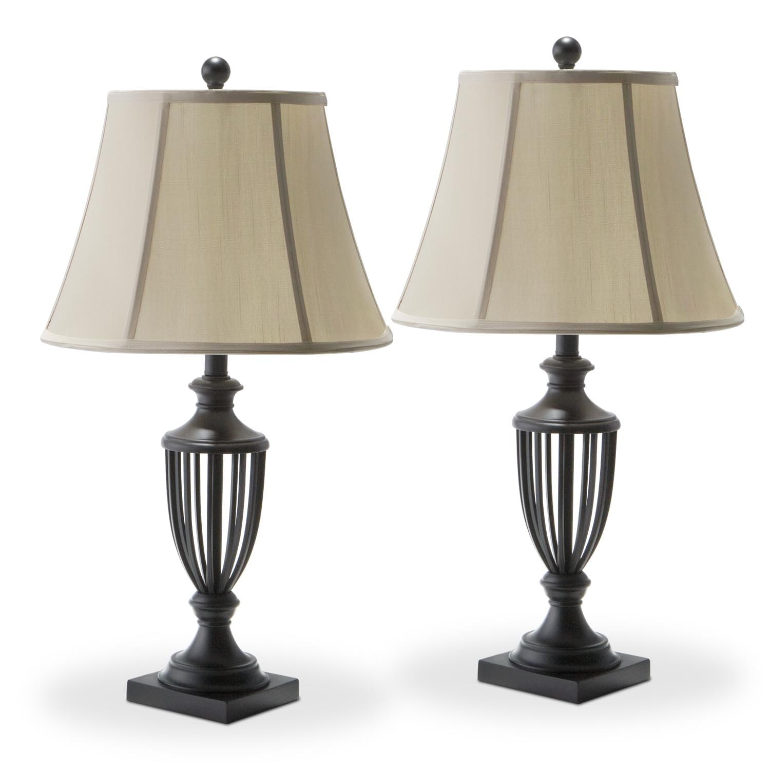Accent Lighting Of Contemporary Table Lamps For Living: American Signature Furniture