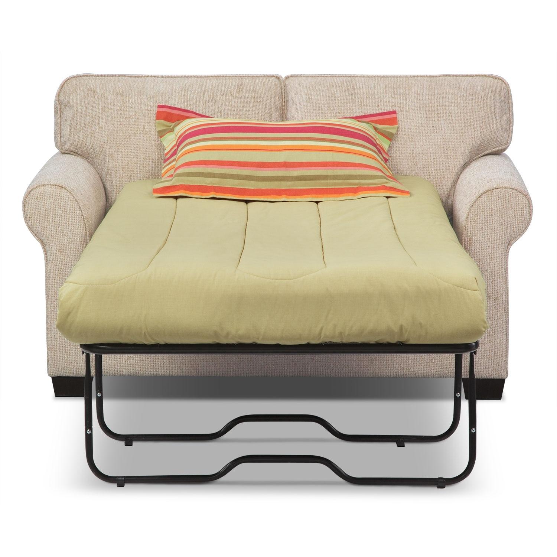 Fletcher Twin Innerspring Sleeper Sofa Beige Value