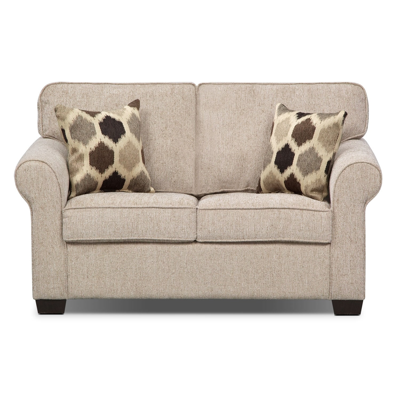 Fletcher Twin Memory Foam Sleeper Sofa Beige Value City Furniture