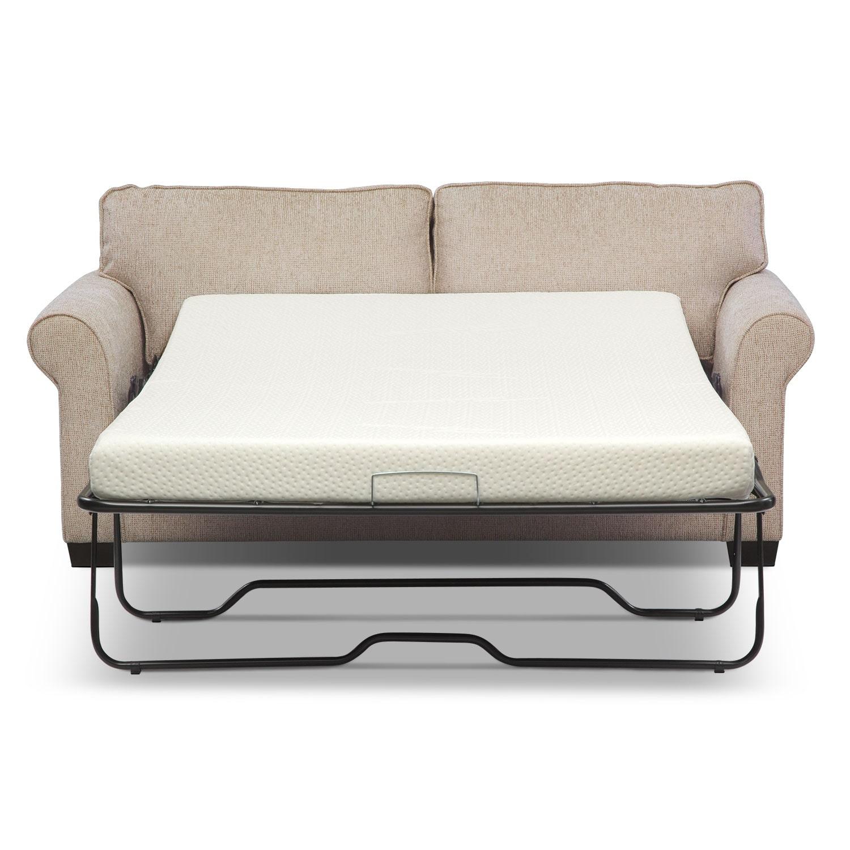 Fletcher Full Memory Foam Sleeper Sofa Beige Value