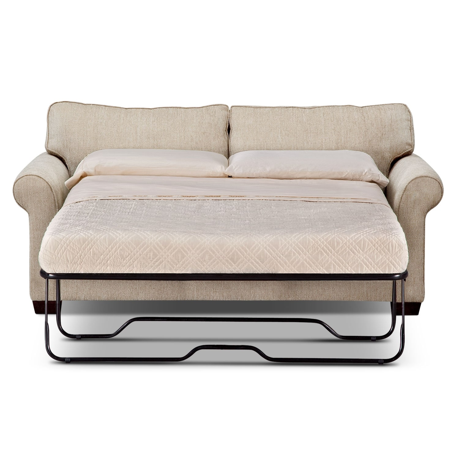 Fletcher Full Memory Foam Sleeper Sofa Beige Value
