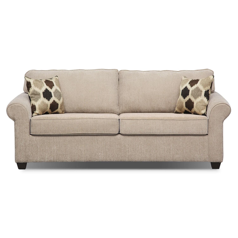 Fletcher queen memory foam sleeper sofa value city furniture for Sofa bed value city furniture