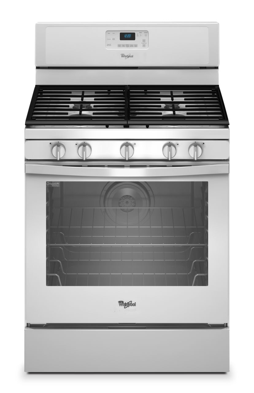 [Whirlpool Stainless Steel Freestanding Gas Convection Range (5.8 Cu. Ft.) - WFG540H0EW]