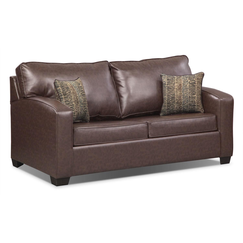 Brookline Full Innerspring Sleeper Sofa   Brown   Value ...