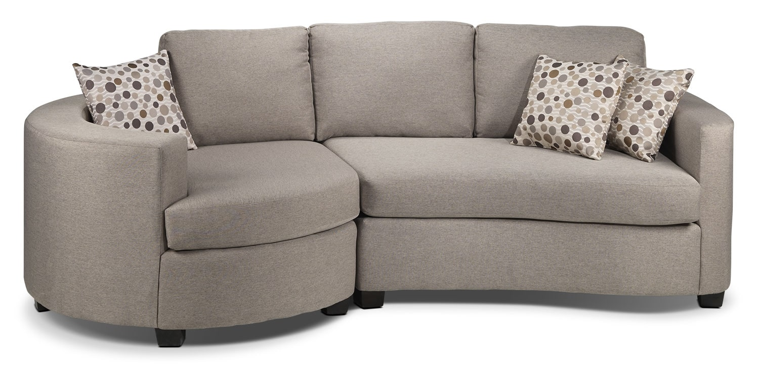 Living Room Furniture - Andrea 2-Piece Sectional - Graphite
