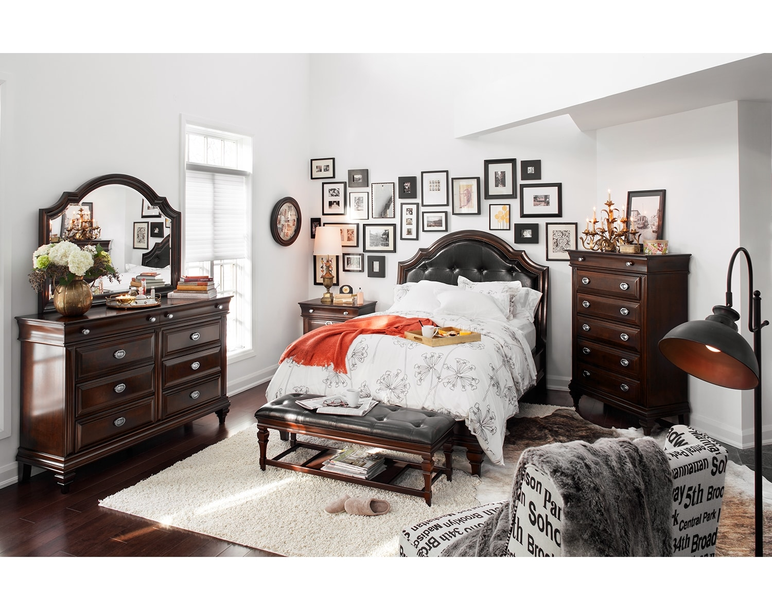 Bedroom Furniture - The Dover Collection - Queen Bed