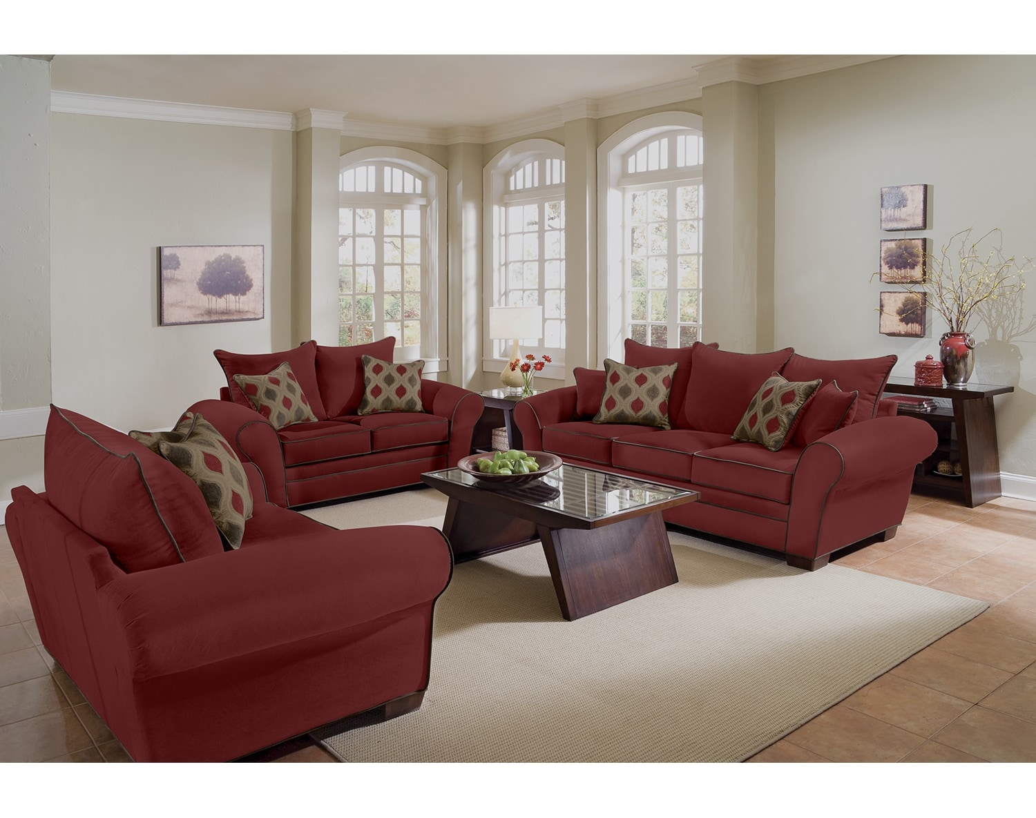 Living Room Furniture - The Strauss Wine Collection - Sofa