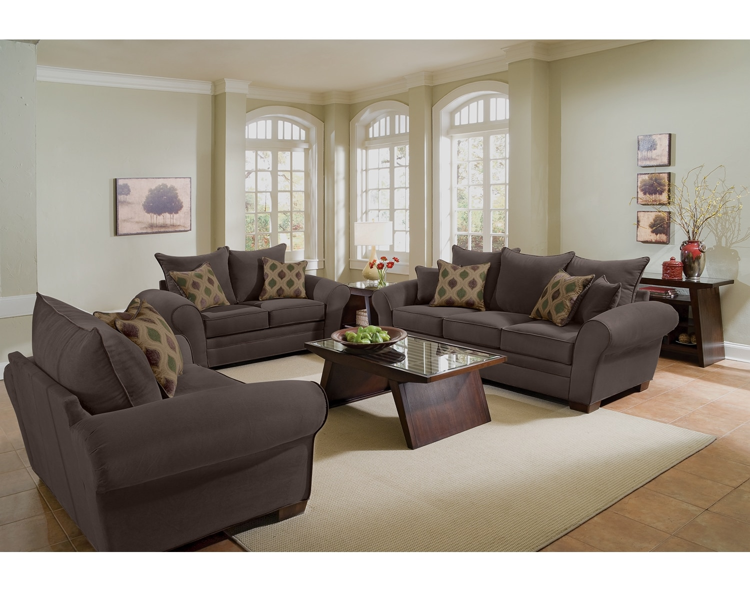 Living Room Furniture - The Strauss Chocolate Collection - Sofa