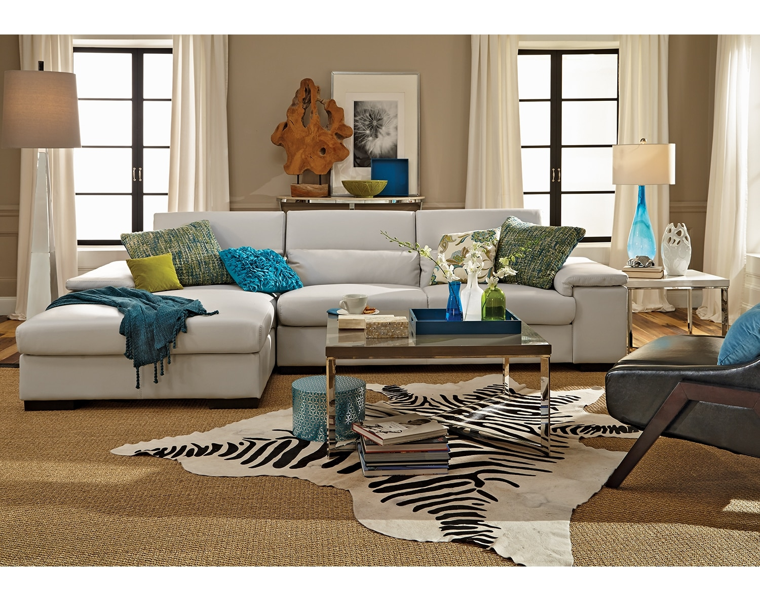 Search results value city furniture for Affordable furniture 3 piece sectional in wyoming saddle