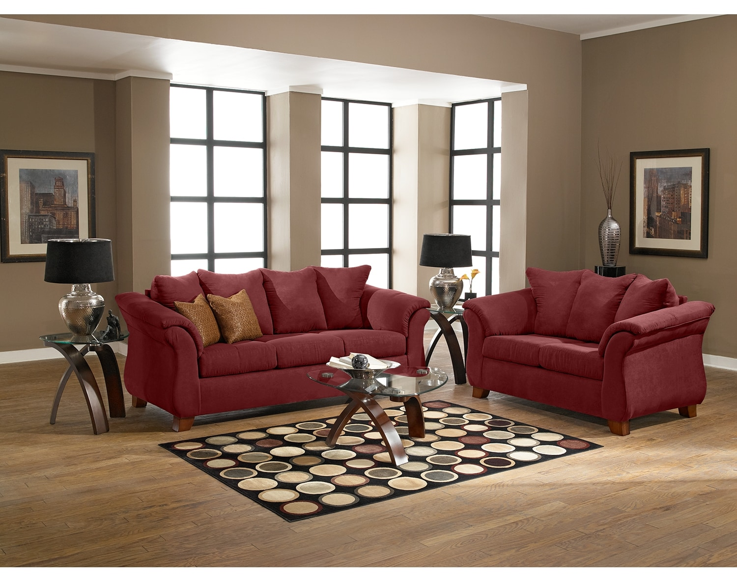 The Adrian Collection Red American Signature Furniture
