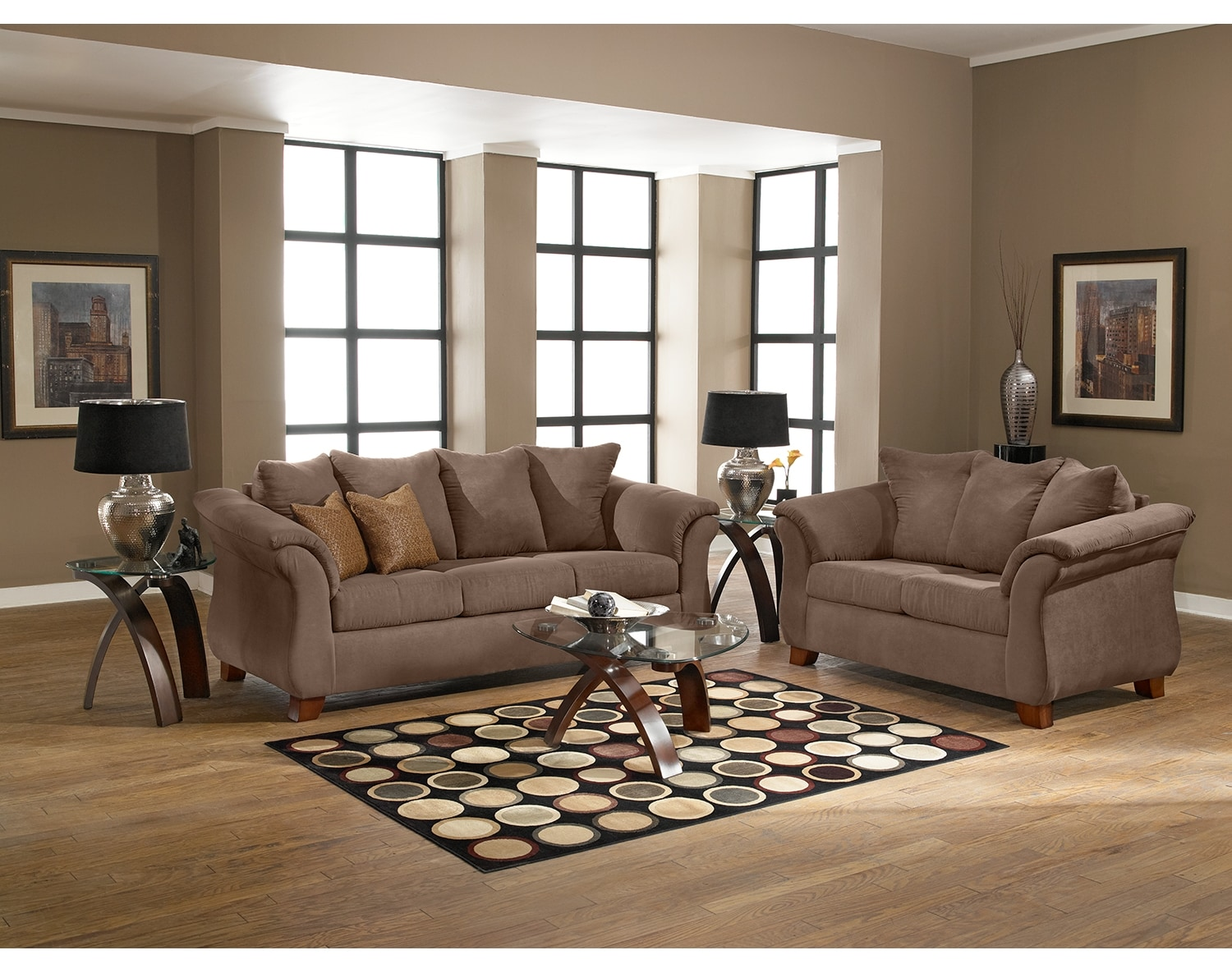 Living Room Furniture - The Perry Taupe Collection - Sofa