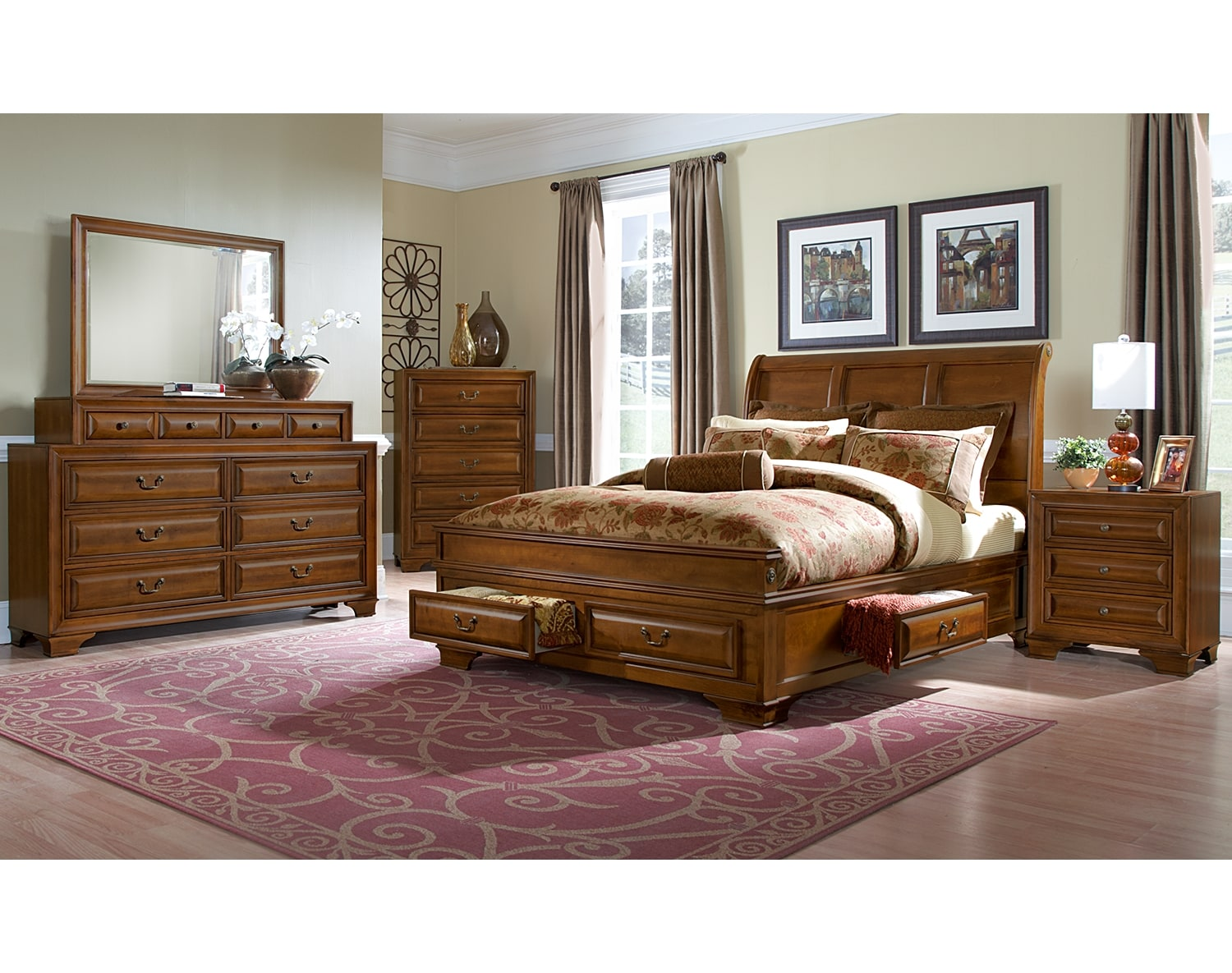 sanibelle bedroom collection value city furniture. Black Bedroom Furniture Sets. Home Design Ideas