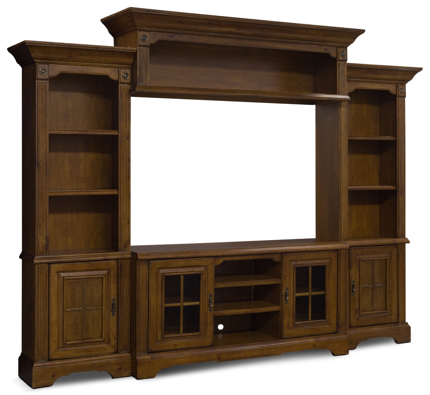 """Entertainment Furniture - Legacy 4-Piece Entertainment Centre with 66"""" TV Opening"""