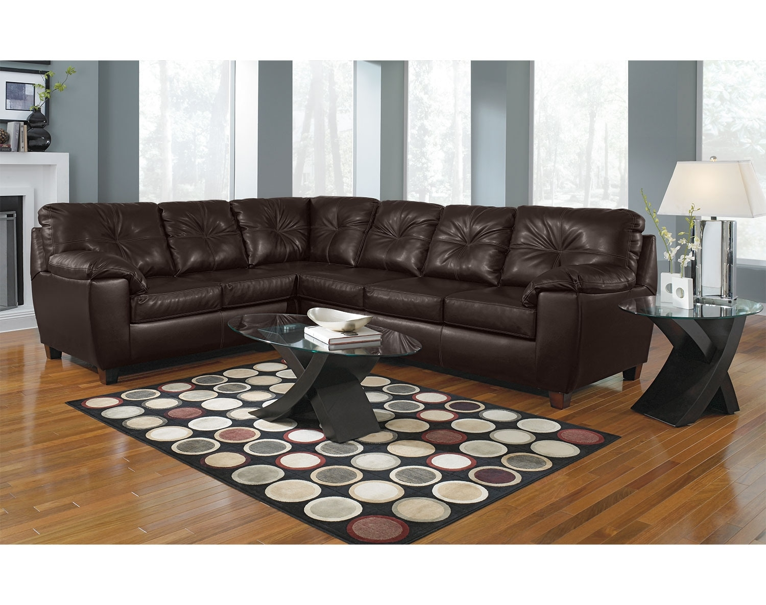 [The Rialto Brown Sectional Collection]