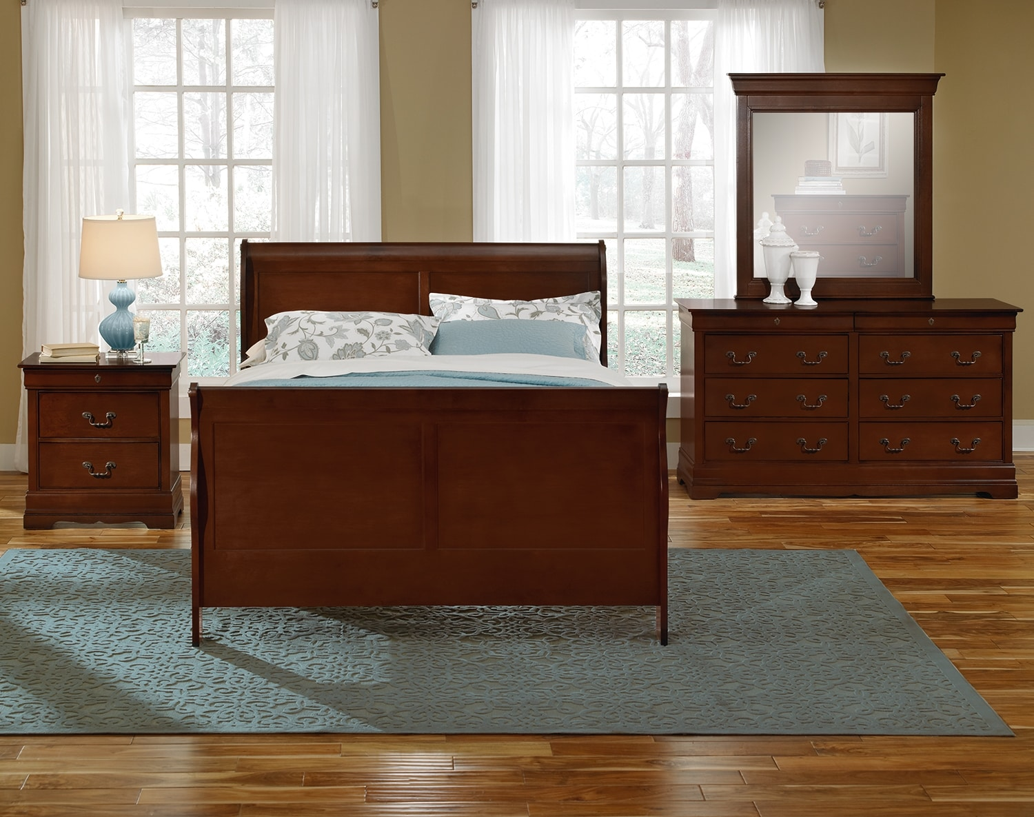 Kids Furniture - The Avignon II Cherry Collection - Twin Bed