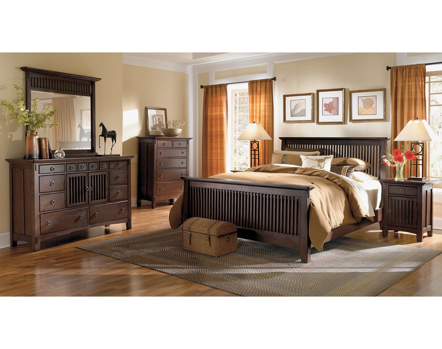 Bedroom Furniture - The Wentworth Dark Collection - Queen Bed