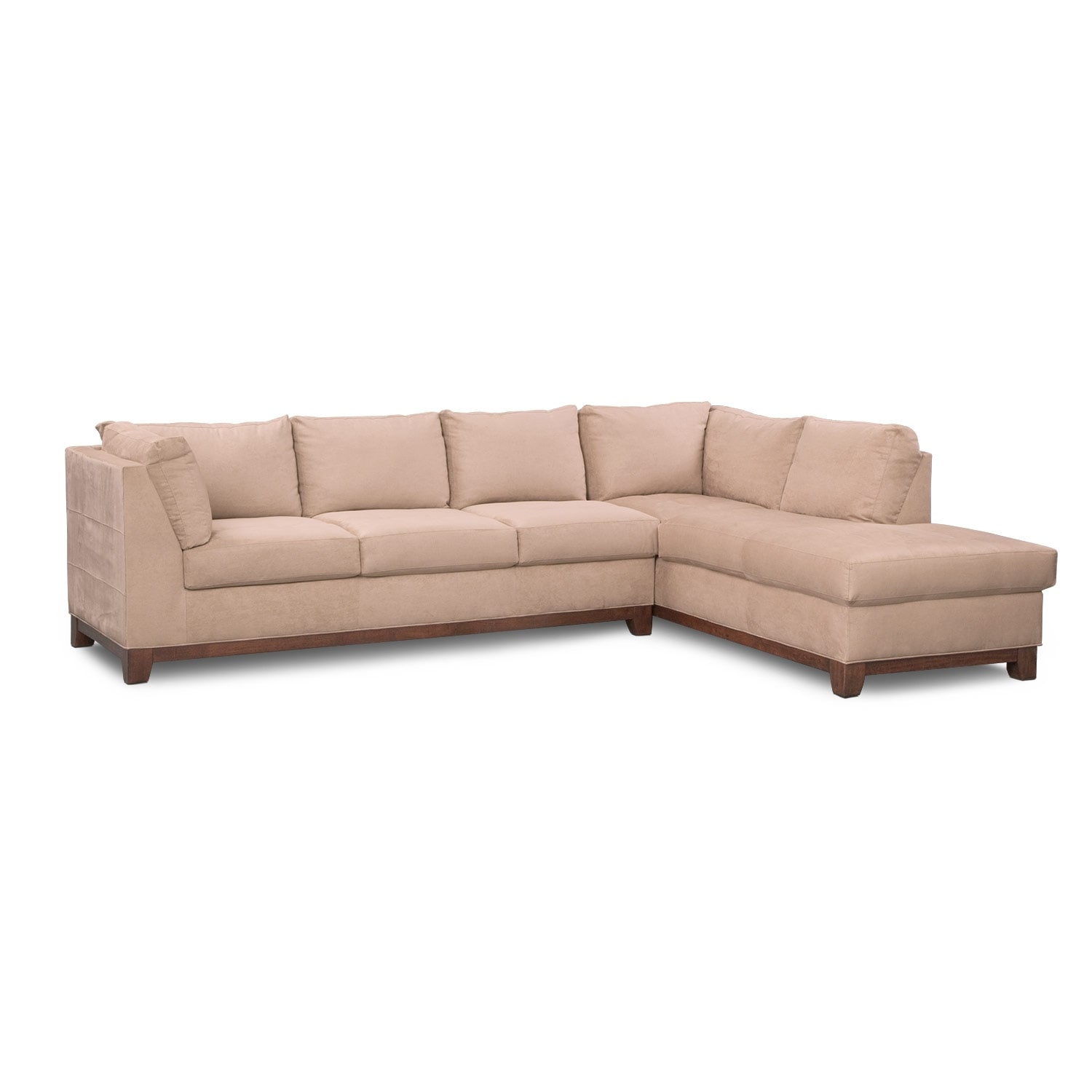 Soho 2 piece sectional with right facing chaise for 2 piece sectional sofa with chaise