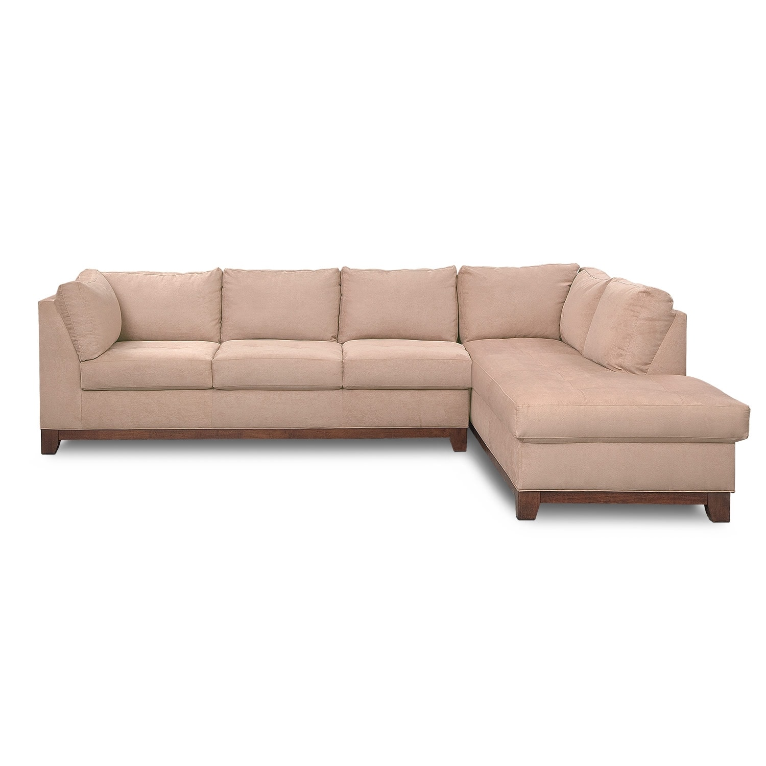 Soho 2 piece sectional with right facing chaise for Sectional couch