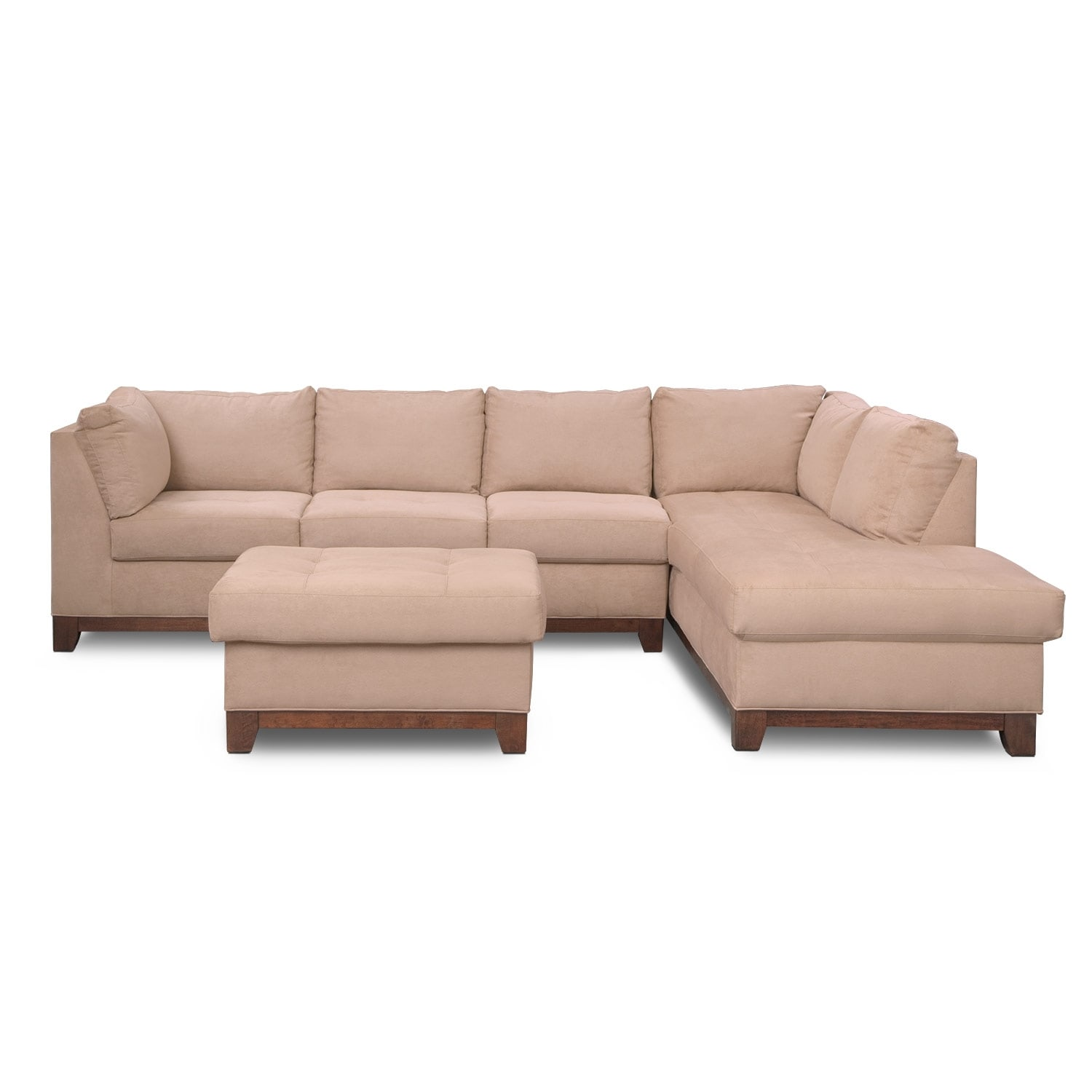 Soho 2 piece sectional with right facing chaise and for 2 piece sectional with chaise