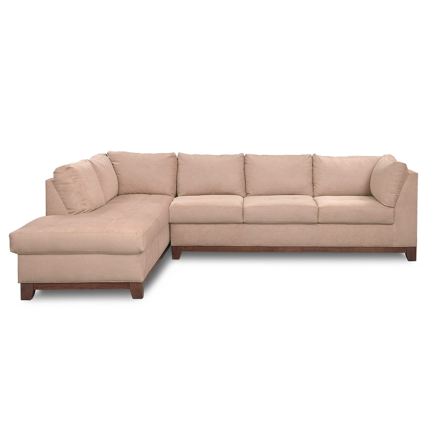 Soho 2 piece sectional with left facing chaise for Sectional sofa with chaise on sale