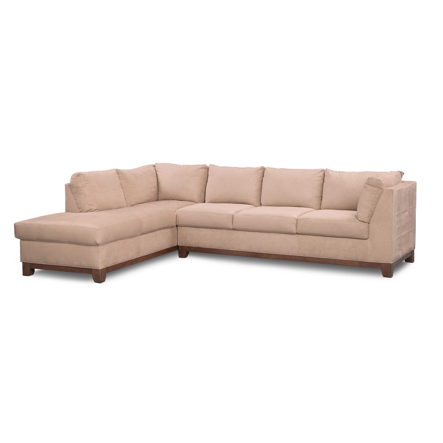 Soho 2 piece sectional with left facing chaise for Couch with 2 chaises