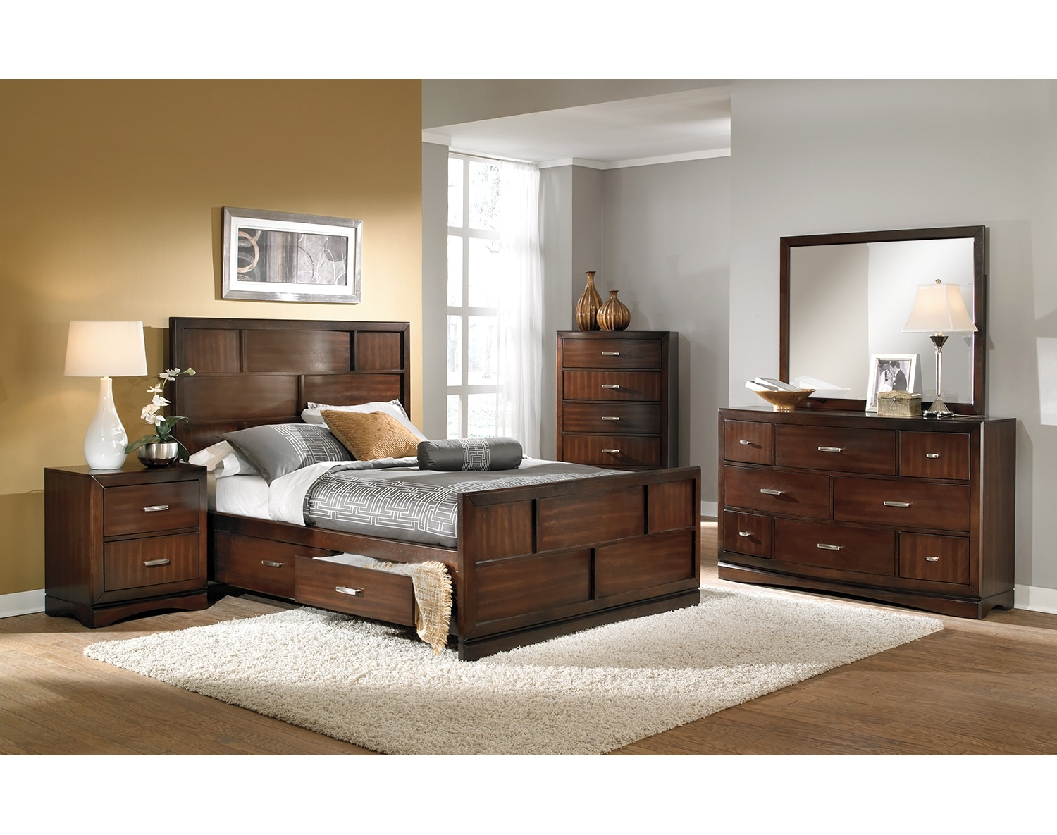 Bedroom Furniture - The Claremont Collection - Queen Storage Bed