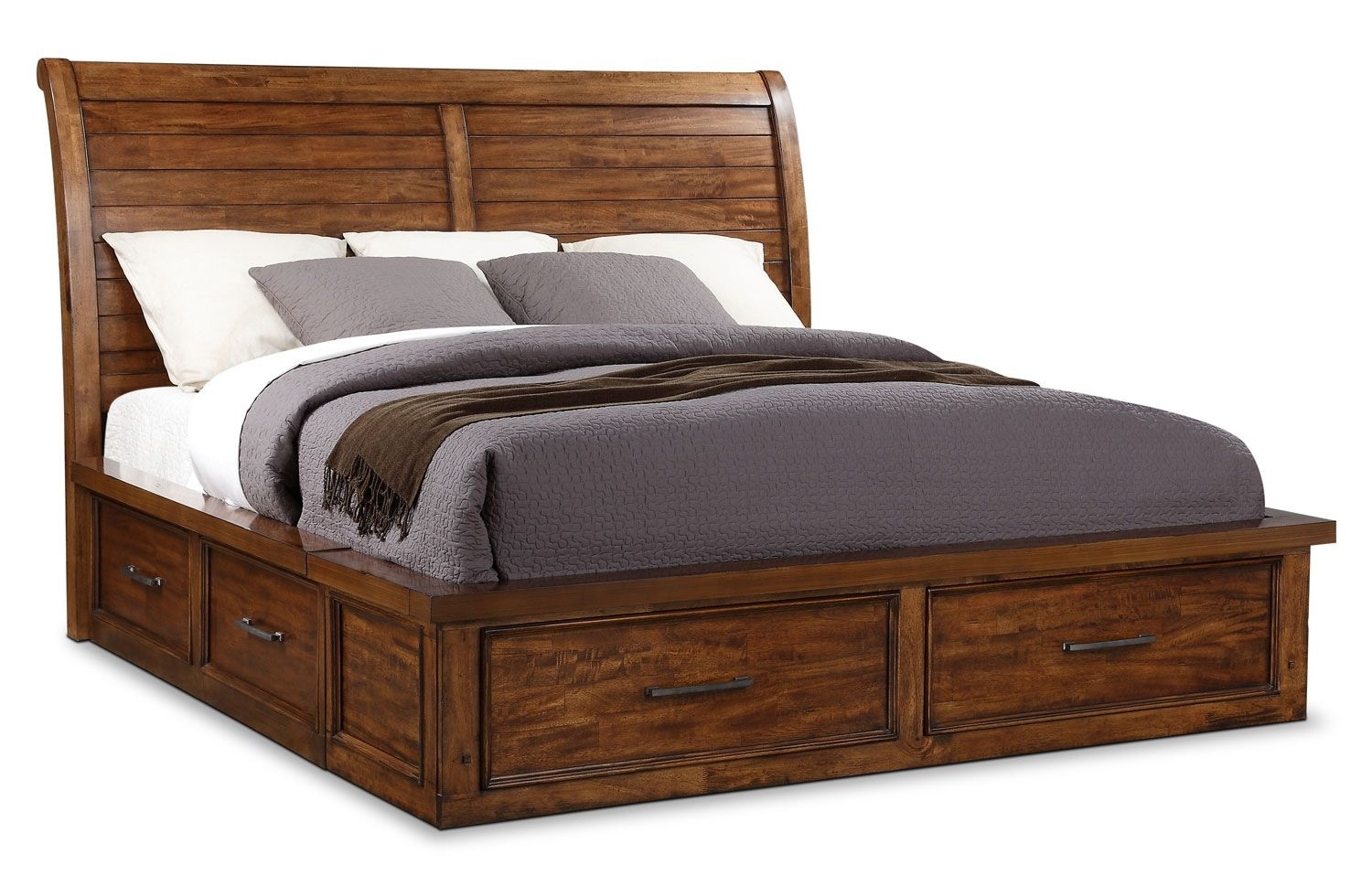 Sonoma Queen Storage Bed – Light Brown