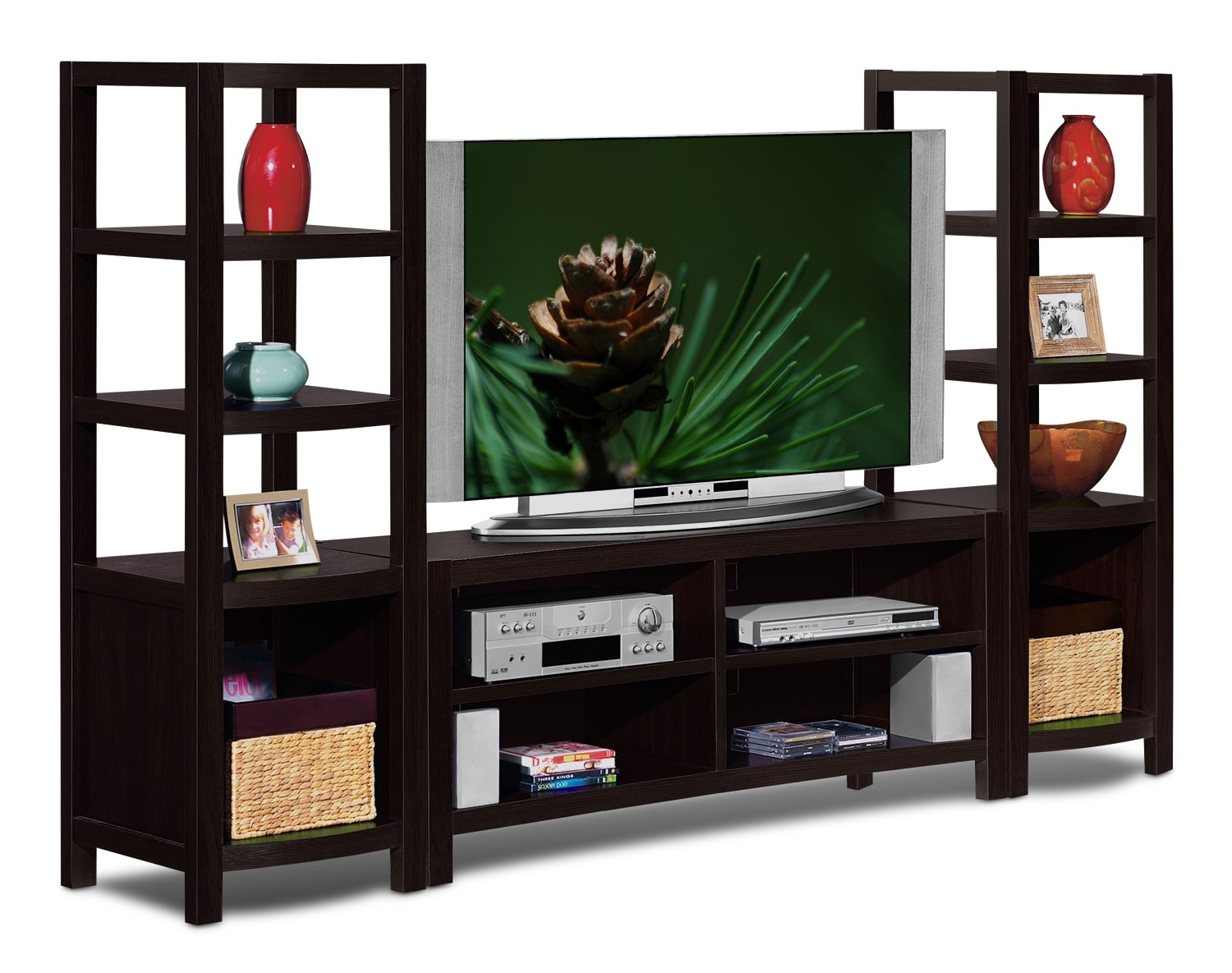 Entertainment Furniture - The Keene Collection - 3 Pc. Entertainment Wall Unit
