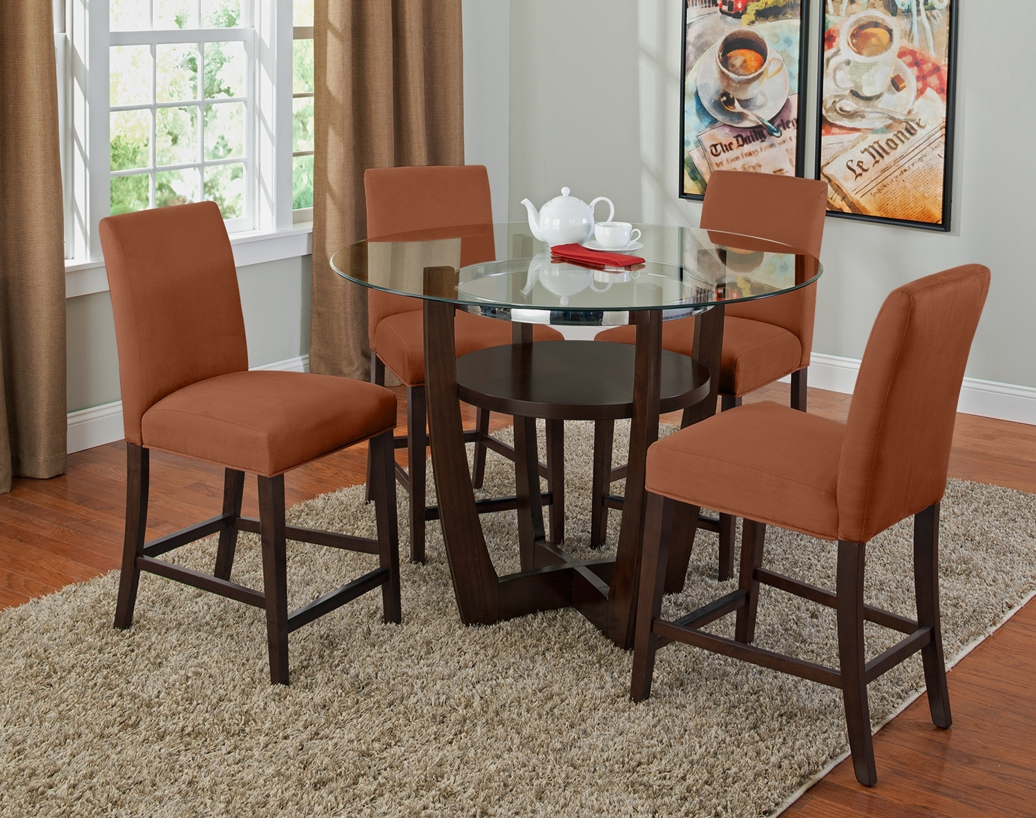 Dining Room Furniture - The Daly II Orange Collection - Counter-Height Table