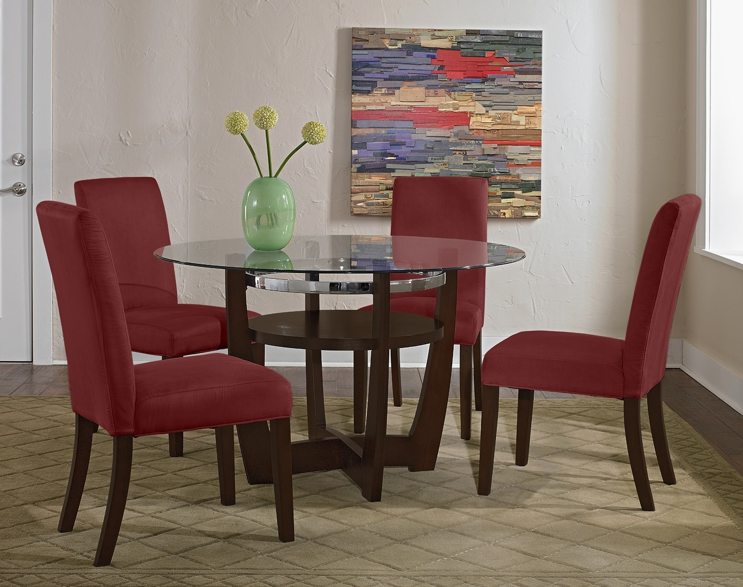 Dining Room Furniture - The Daly Red Collection - Table