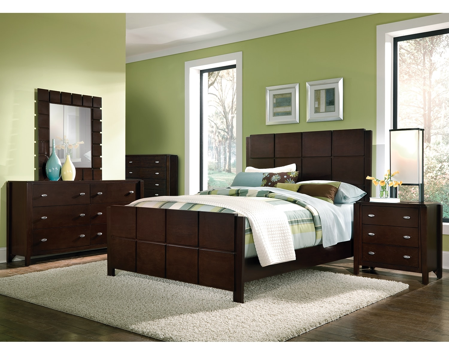 The Mosaic Collection Dark Brown Value City Furniture