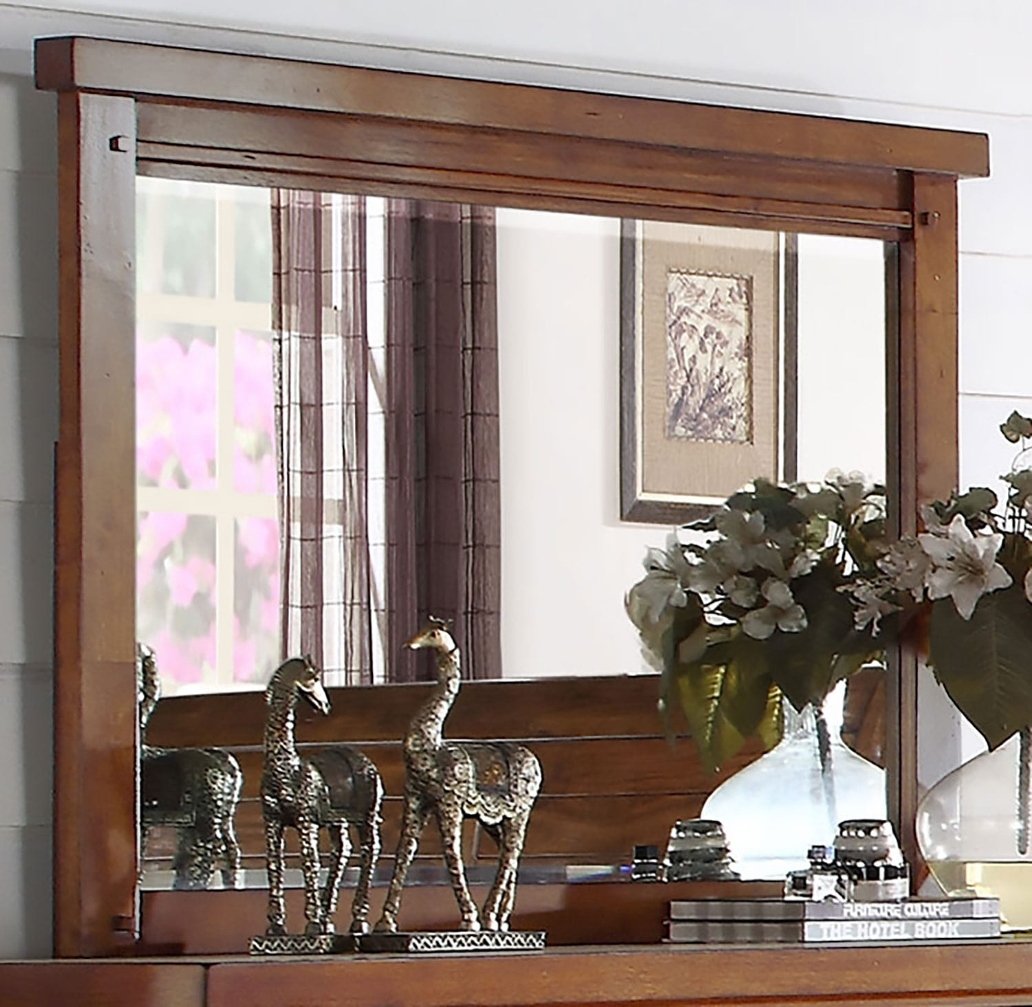 Bedroom Furniture - Sonoma Mirror – Light Brown