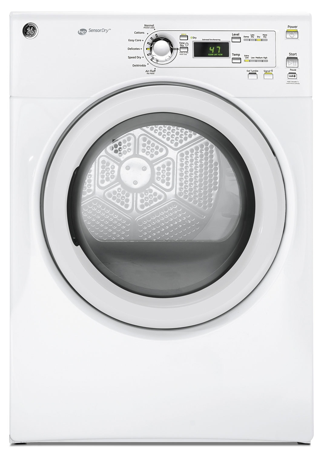 Washers and Dryers - GE White Electric Dryer (7.0 Cu. Ft.) - GFMN110EDWW