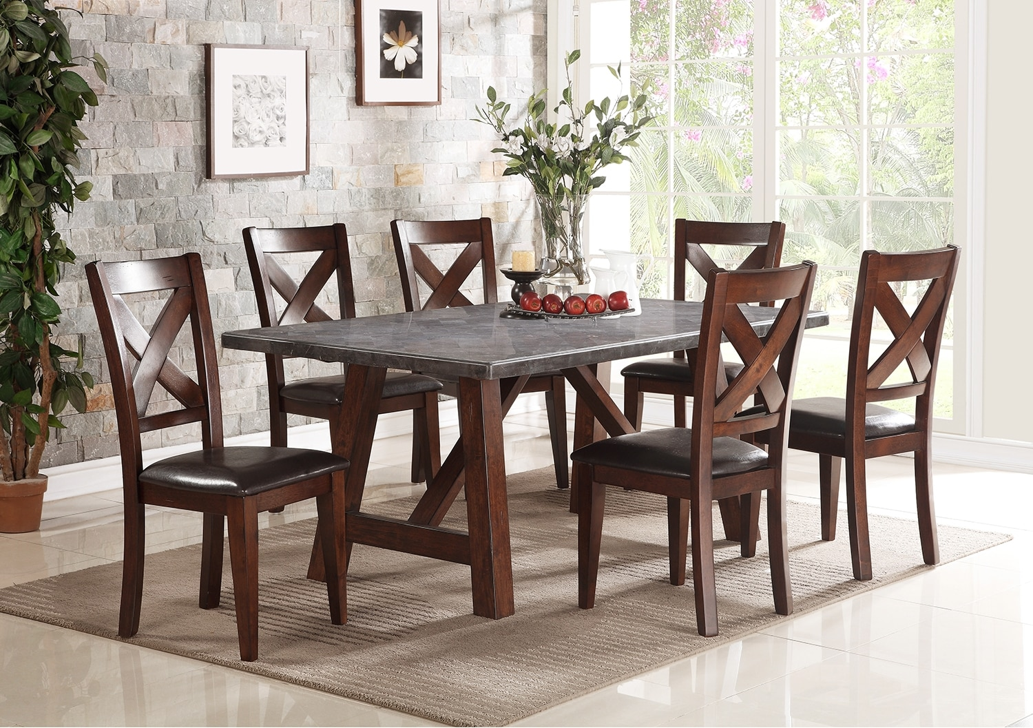 Dining Room Furniture - Bluestone 5-Piece Dining Package