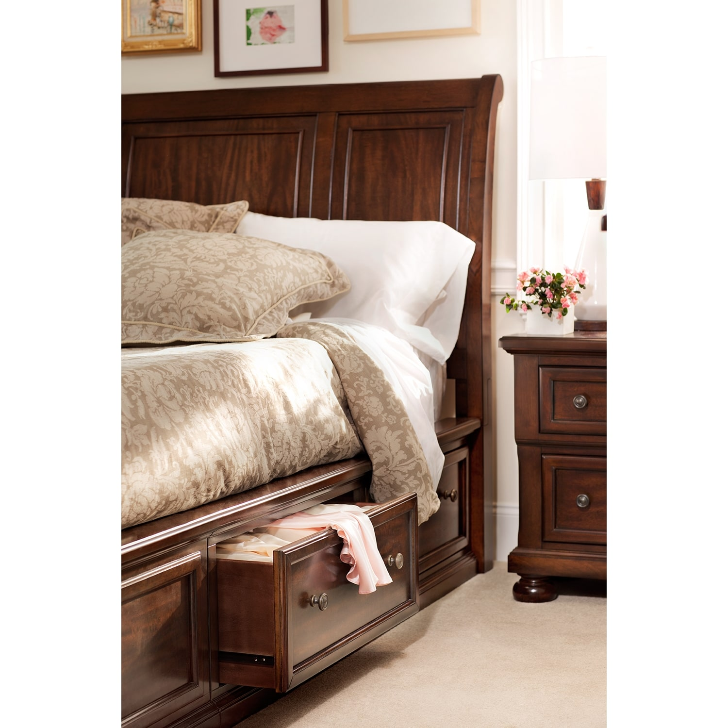 Hanover Queen Storage Bed American Signature Furniture